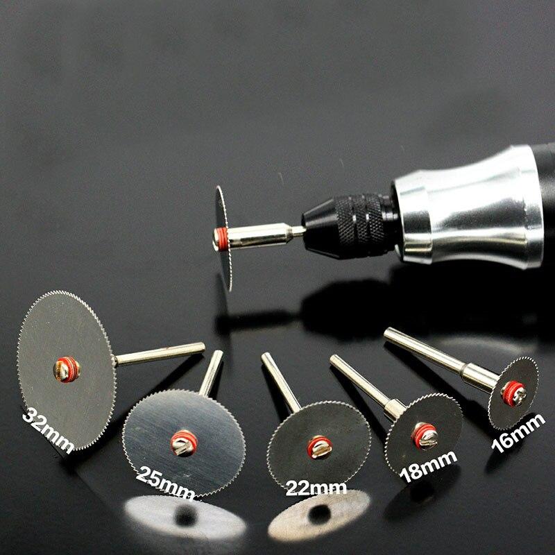 6 шт./компл. режущий диск из нержавеющей стали с 1 оправкой для вращающихся инструментов Dremel 16 18 22 25 32 мм режущий диск|Полотна для пил|   | АлиЭкспресс - Топ товаров на Али в мае