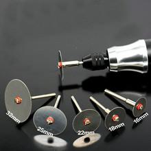 6 sztuk zestaw metalowa tarcza tnąca ze stali nierdzewnej z 1 trzpieniem do narzędzi obrotowych Dremel 16 18 22 25 32mm tarcza tnąca tanie tanio LISM CN (pochodzenie) Inne Ostrza do pił tarczowych do majsterkowania w domu