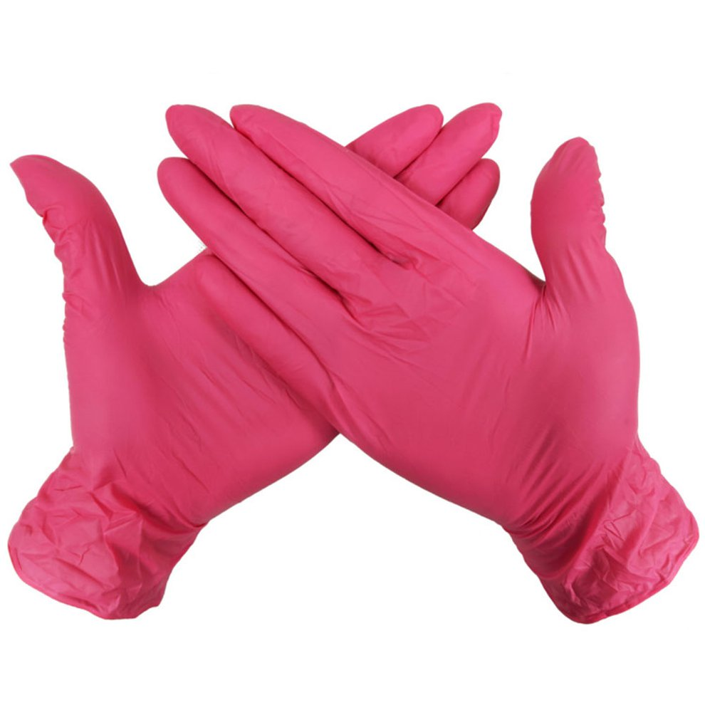 Durable Nitrile Disposable Gloves Wear-Resistant Rubber Latex Food Medical Gloves Household Cleaning Gloves 100Pcs