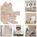 7 pçs/set diy escuro vermelho tijolo padrão adesivos de parede diy auto-adesivo papel de parede cozinha casa decalque decoração adesivo de parede à prova dwaterproof água