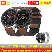 Global Version Amazfit GTR 47mm Smart Watch Band 5ATM Waterproof Smarwatch 24 Days Battery GPS Music Control For Android IOS