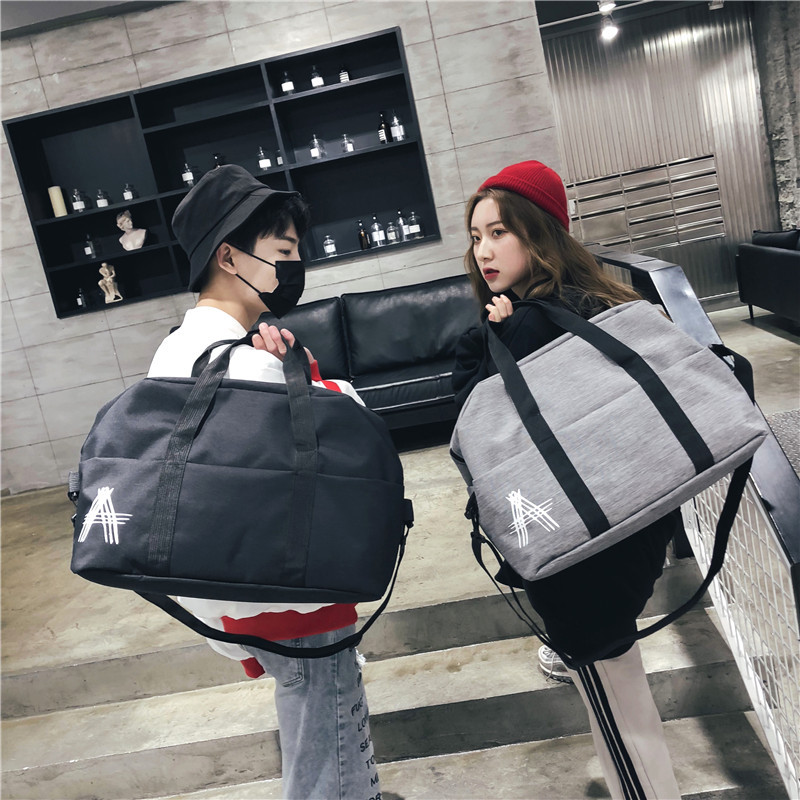 Tide Brand Large Capacity Travel Bag Fashion Casual Students Shoulder Bag New Waterproof Simple Handbag Couple Croddbody Bag