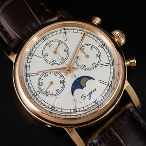 Image 4 - Super Luminous Pilot Chronograph Mechanical Watches Men 100% ST1908 Movement 1963 Moon Phase NATO Calendar Men Wristwatch