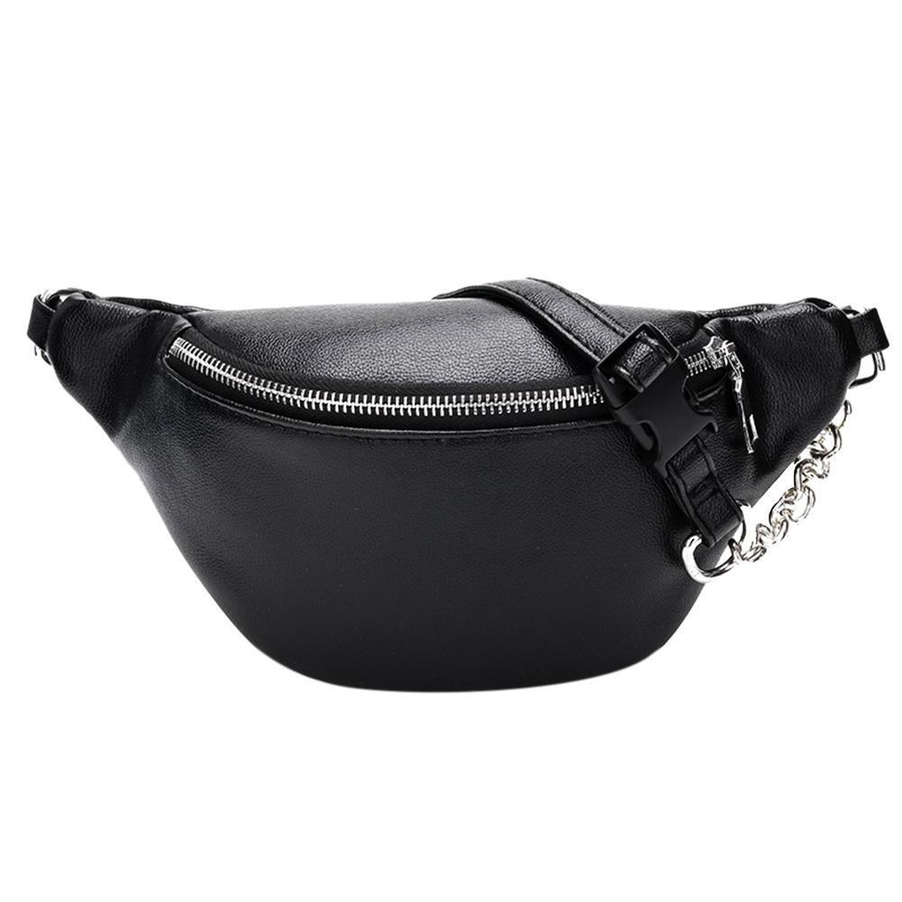 Portable Waist Packs Chest Tote Casual PU Leather Zipper Outdoor Multifunctional Belt Bags Purse Fabala Travel Waist Bag