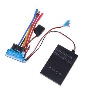 Image 1 - 방수 45A 60A 80A 120A 브러시리스 ESC 전기 속도 컨트롤러 방진 1/8 1/10 1/12 RC 자동차 크롤러 RC 보트 부품