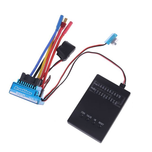 방수 45A 60A 80A 120A 브러시리스 ESC 전기 속도 컨트롤러 방진 1/8 1/10 1/12 RC 자동차 크롤러 RC 보트 부품
