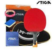 Карбоновые теннисные ракетки STIGA 6 STARS, профессиональные ракетки из пупырчатой резины для активной игры в пинг понг