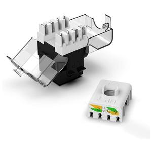 Image 3 - CAT6/CAT5e Tool Less Keystone Jack,AMPCOM RJ45 UTP Keystone Module Adapter No Punch Down Tool Required Couplers 1/2/10 Pack