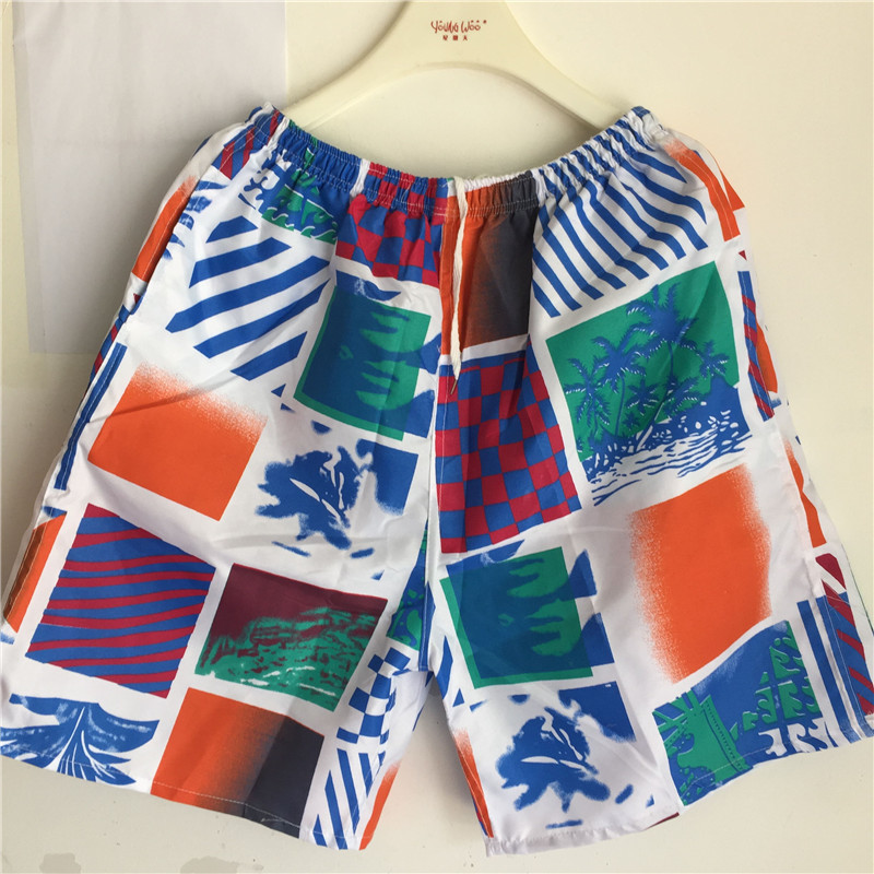 Summer MEN'S Beach Shorts Short Sports Casual Loose-Fit Quick-Dry Booth Goods Wandering Peddler Beach Surfing Swimming Trunks