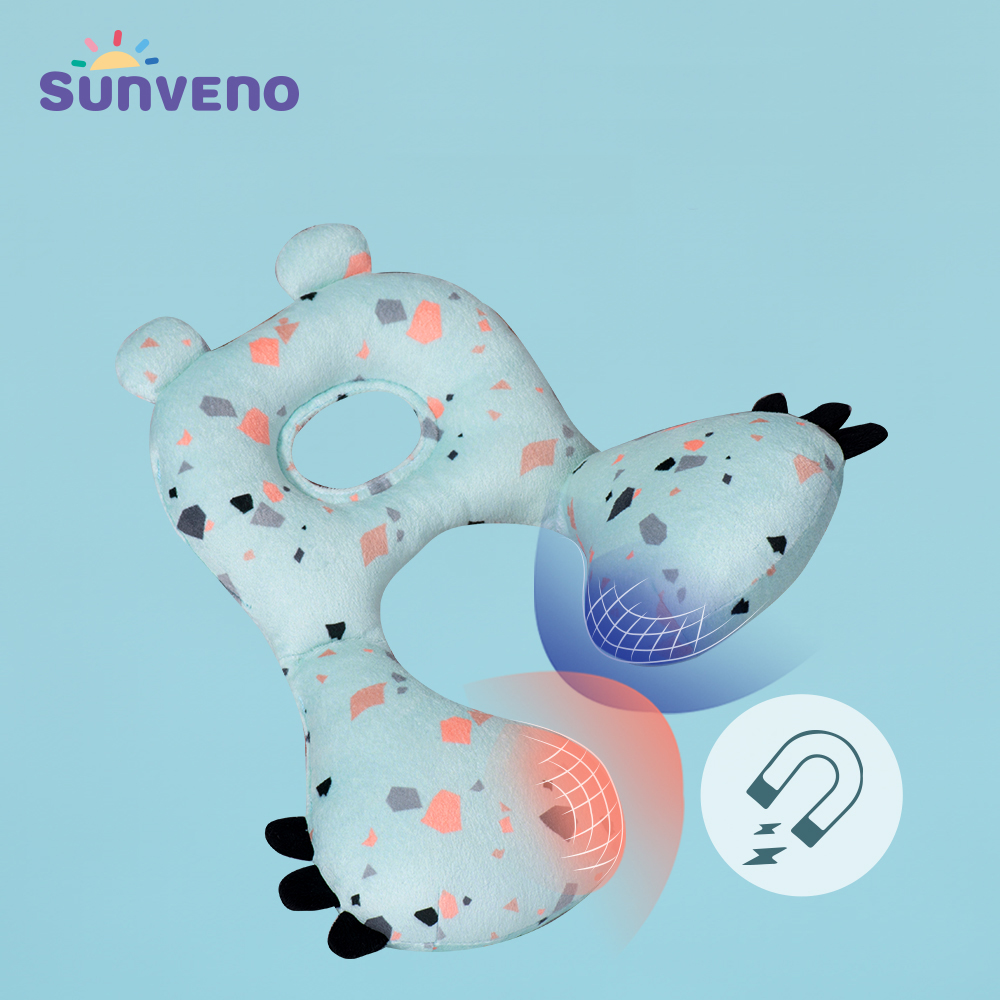 Sunveno Baby Neck Head Support Pillow Chin Supporting Patented Travel Pillow, Keeps Head From Bobbing Up And Down For Baby 6-24M