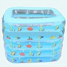 Children's Toy Bathing Pool Square Inflatable Baby Bathtub Environmental PVC Baby Bathing Supplies Infant Swimming Pool Bathtub