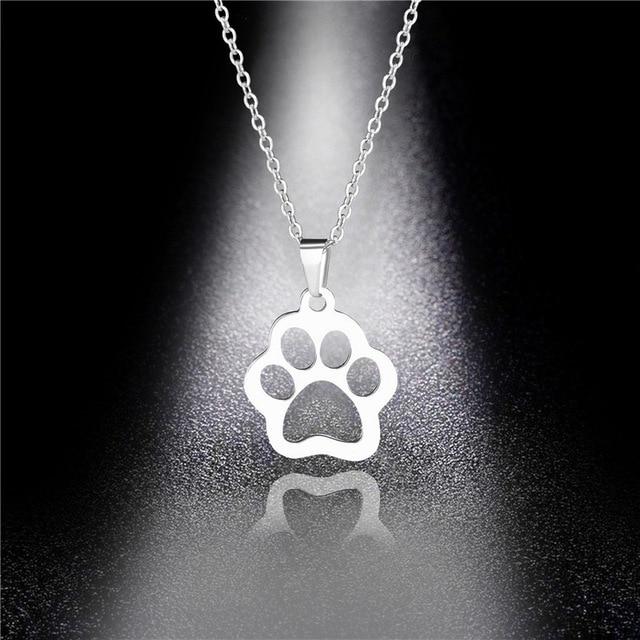 Dog Cute Footprints Necklaces 1