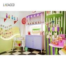 Laeacco Ice Cream Cart Photography Background Cake Candy House Baby Children Portrait Scene Photographic Backdrops Photo Studio