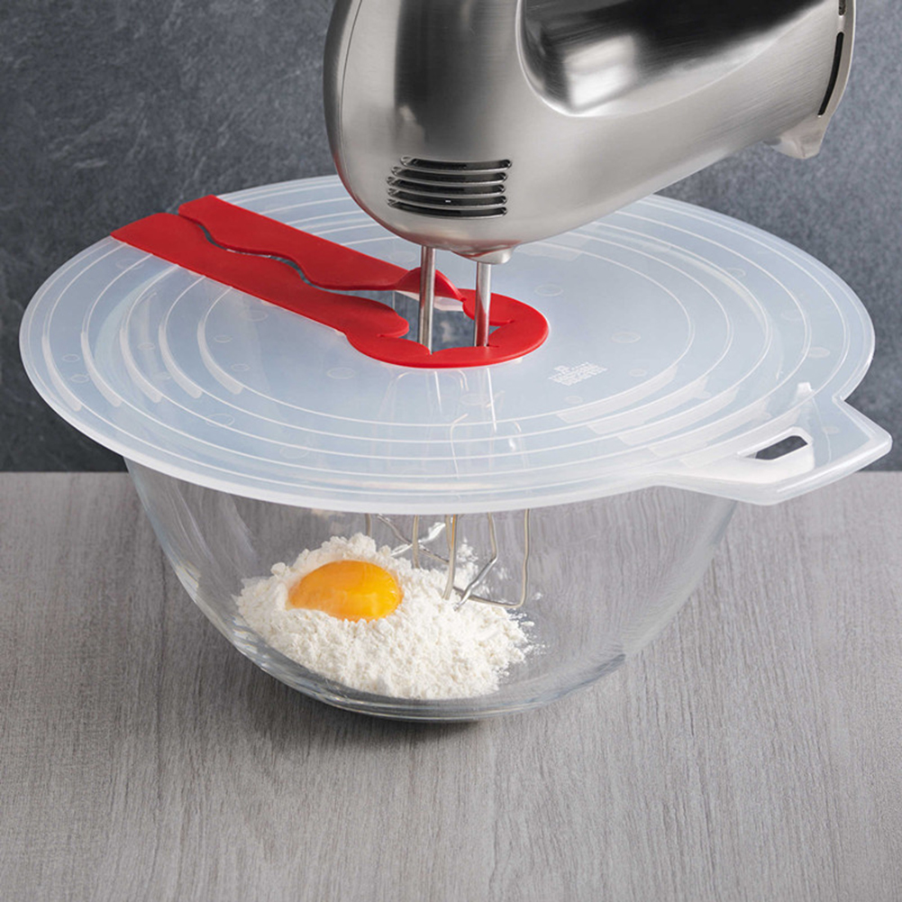 Eggs Cream Plastic Mixer Cover Bowl Whisks Screen Baking Beat Eggs Splash Guard Bowl Lids for Household Kitchen Cooking Gadgets