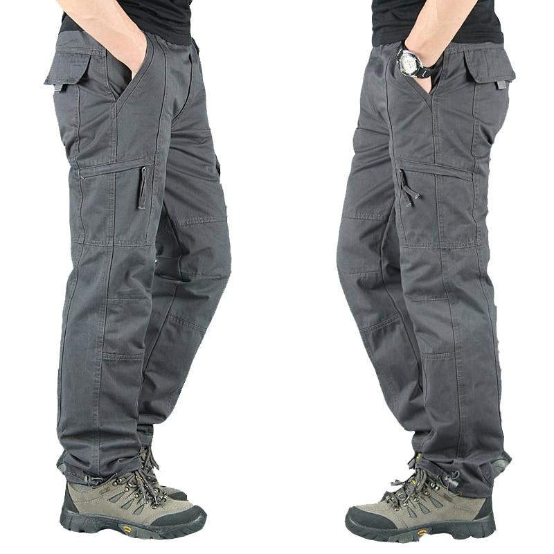 Men Fashion Military Long Trousers Warm Cotton Khaki Pants Men Pantalon Cargo Homme Spring Autumn Tactical Cargo Pants