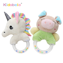 Baby Rattles Toys Cute Plush Soft Hand Bells Unicorn Bed Toys Baby For Newborn 0 12 24
