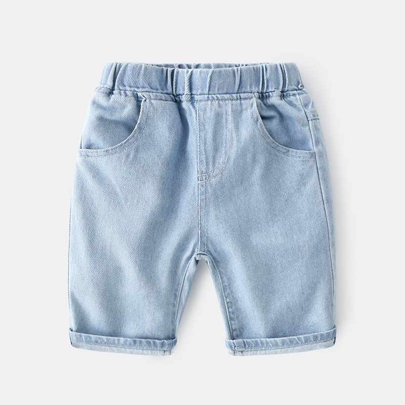 Baby Boy Shorts 2020 Summer Korean Boy Jeans Pants Casual Jeans For Boys Kids Letter Baby Boy Jeans Clothes 1
