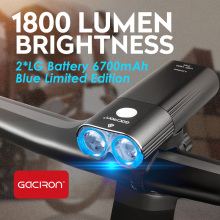 Bike Headlight Bike-Accessories Rechargeable Power-Bank Gaciron 1800lumem Front IPX6
