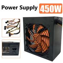 Led-Fan Power-Supply Computer PC Desktop Atx 12v SATA 24-Pin Switchable 450w-Max