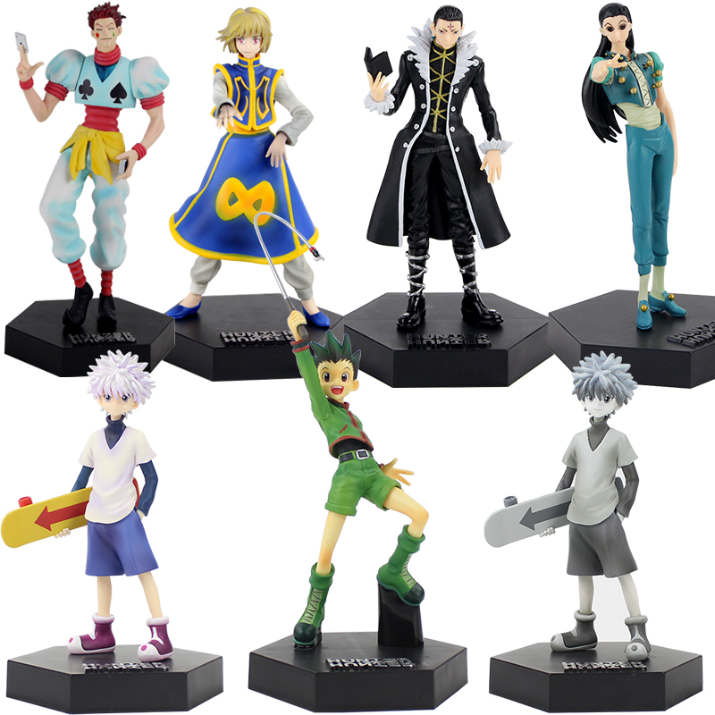 Japanese Hunter X Hunter figure <font><b>toys</b></font> Killua Zoldyck Gon Freecss Chrollo Lucilfer <font><b>DX</b></font> Figure Vol.5 Collection Model <font><b>Toys</b></font> gift image