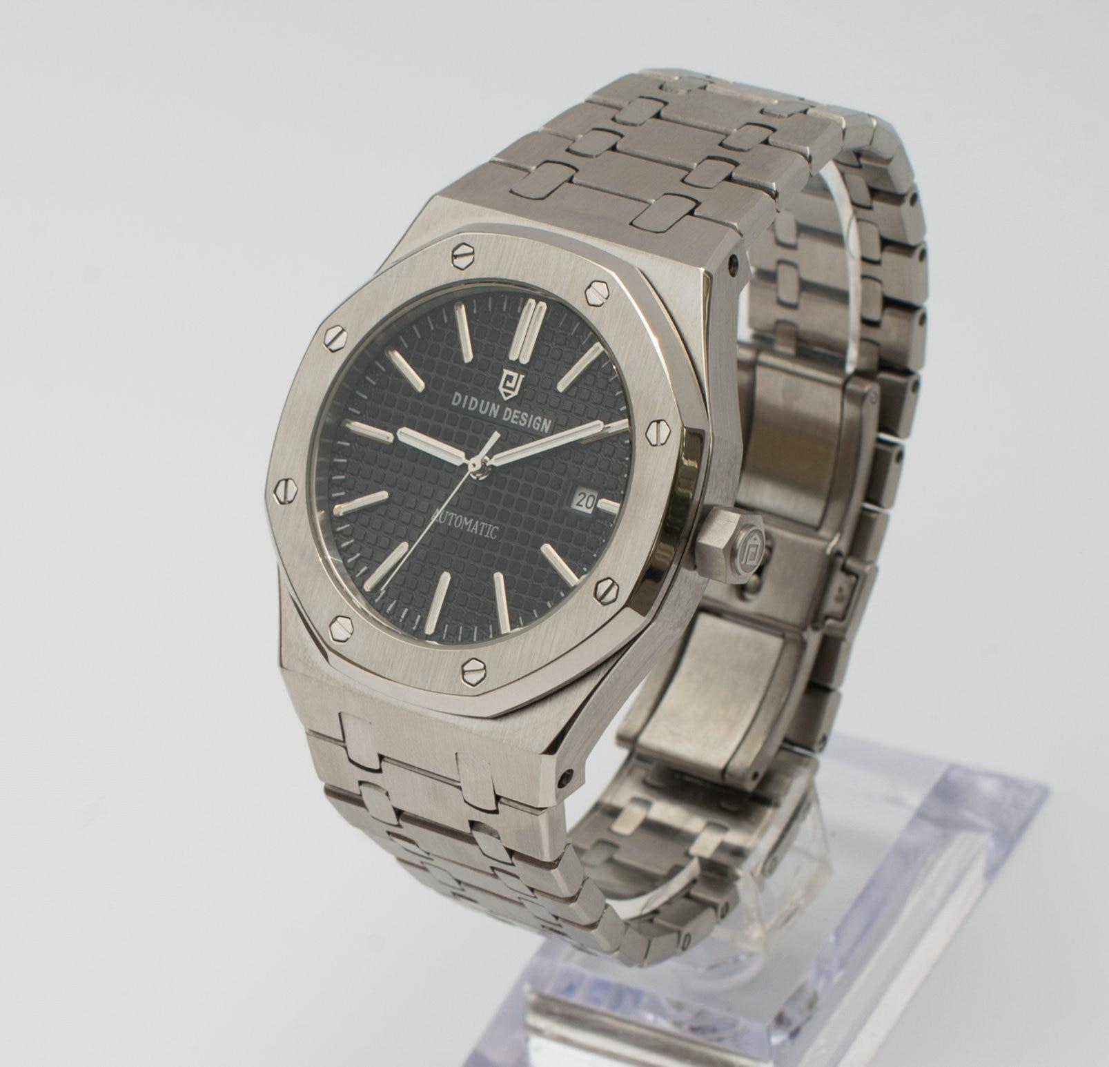 didun Watch men Luxury Brand Men Automatic Mechanical Watch Fashion Business Male Watch steel stainless strap