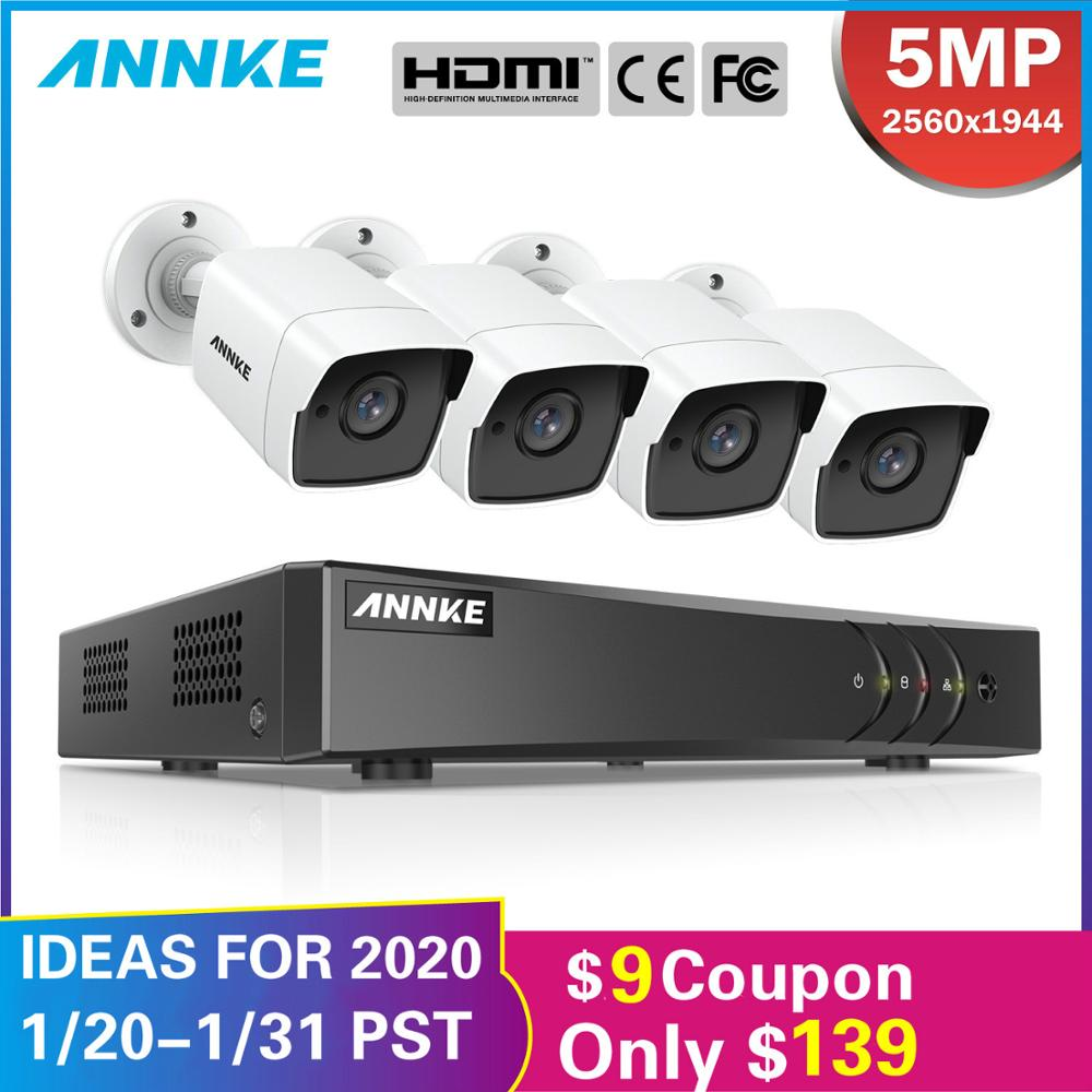 ANNKE 8CH 5MP Ultra HD CCTV Camera System 5IN1 5MP Lite H.265+ DVR With 4X 5MP Weatherproof Outdoor Security Surveillance System