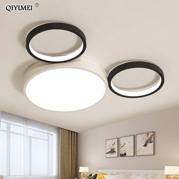 New Modern LED Ceiling Lights  Lamps For Bedroom Iron Kitchen Luminaire Colorful Rooms lights with remote control children room