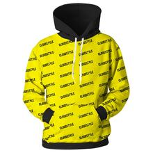 YFFUSHI 2019 Cool 3D Hoodie For Men Pullovers Sweatshirt yellow and  black Hooded Hoodies Size 5XL