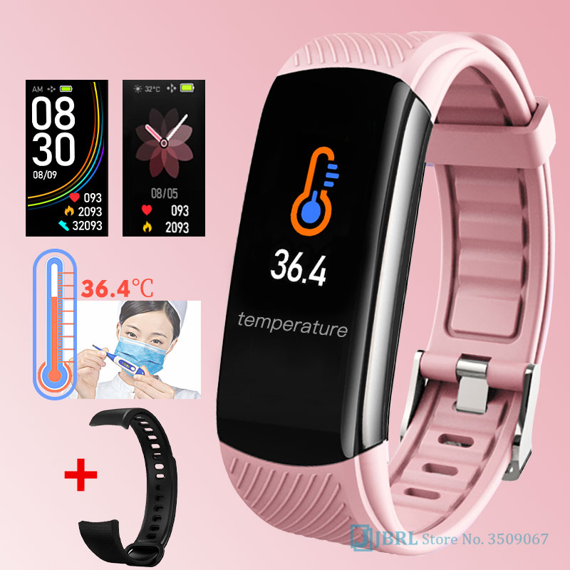2020 New Smart Watch Women Men Body Temperature SmartWatch Fitness Tracker Heart Rate Monitor Smart clock For Andriod IOS