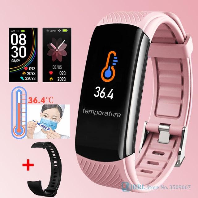 2020ใหม่สมาร์ทนาฬิกาผู้หญิงผู้ชายอุณหภูมิSmartWatch Fitness Tracker Heart Rate Monitorนาฬิกาสมาร์ทสำหรับAndroid IOS