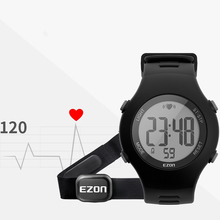 Outdoor Running Sports Watches With Chest Strap Heart Rate Monitor Digital Watch Alarm Stopwatch for Men Women