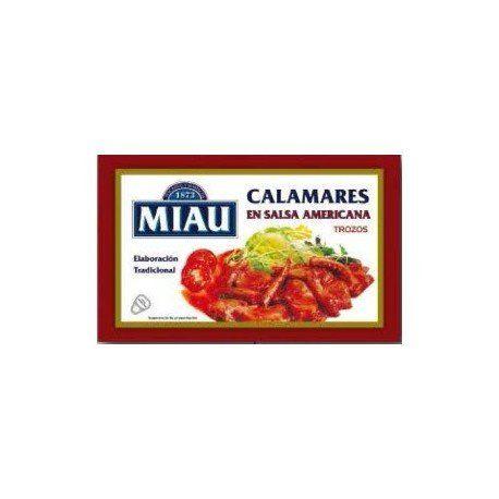 Calamares En Salsa Americana Miau 72g