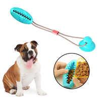 Juguete mordedura molar para perros con ventosa multifunción juguete mordedura molar para mascotas cuerda para estirar pelota juguete-tirar, tirar, masticar, jugar