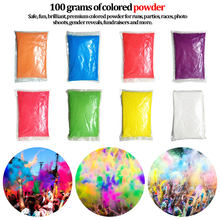 New 100g/bag Colored Powder for Holi Party Novelty Festival Toy Rainbow Running Powder Photobooth Props Solid Color(China)
