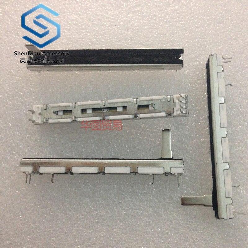 5pcs 100% New MG124CX Mixer Push Double Potentiometer A20k Handle Length 15mm 6-pin 75mm