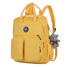 Litthing Fashion Woman Backpack Waterproof Nylon Soft Handle Solid Multi-pocket Travel Zipper School Bags Drop shipping 2019