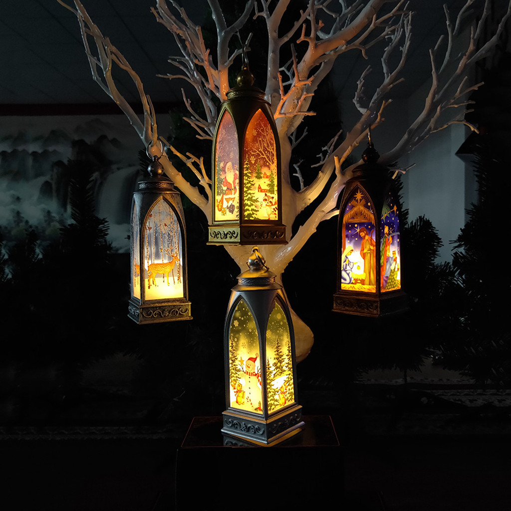 Hot Sale Christmas Lights Christmas Decorations Light Ornaments Craft Home Decor Hanging Pendant Luces De Navidad Dropshipping