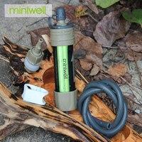 Filtro de água de sobrevivência militar portátil de 0.1 mícrons miniwell filtering water experiment filter dust filter air -