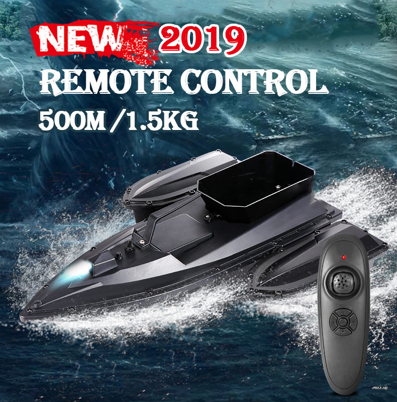 2019 Smart RC Bait Boat 500m 3 Hours Battery Life Fish Finder Boat Remote Control Small Fishing Boat Ship Speedboat Fast Fishing