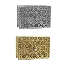 цены Creative candy box personality hollow gold-plated silver plated aromatherapy box wedding candy box storage box