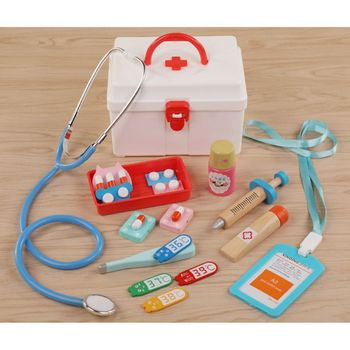 Pretend Doctor Play Wooden Toys for Children Role Playing Doctor Nurse Game Funny Gifts for Kids pretend doctor play wooden toys for children role playing doctor nurse game funny gifts for kids
