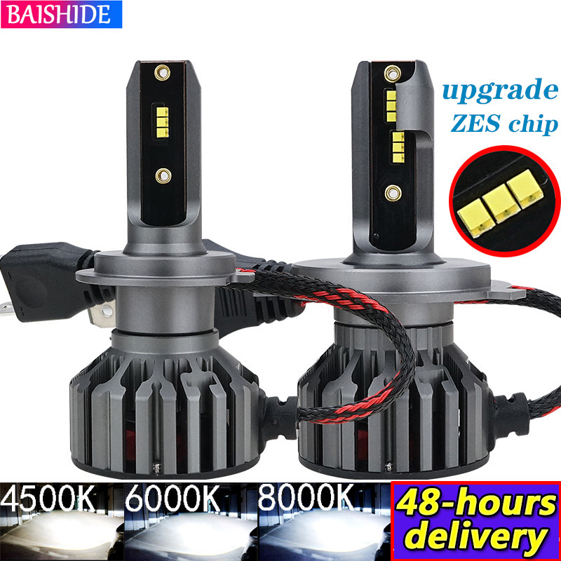 BAISHIDE H4 LED H7 ZES Car Headlights H1 H3  H9 H11 9005 HB3 9006 HB4 9012  6000K 4500K 60W 8000LM Auto Fog Light 12V LED Lamp