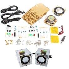 Zestaw głośników Diy zestawy z obudową 3Wx2 głośnik wzmacniacz elektroniczny DIY szkolenia spawanie części montażowe