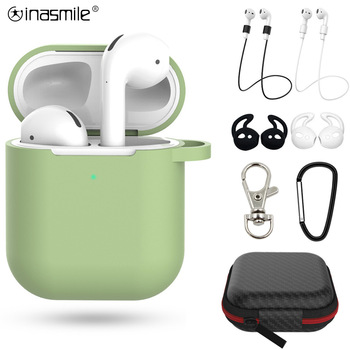 Красив подарък 2 / 7бр. Комплект силиконови калъфи за Airpods 2 защитен калъф за слушалки за Apple Airpods 2 удароустойчиви аксесоари