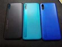 """Redmi9A דיור עבור Xiaomi Redmi 9A 6.53 """"פלסטיק סוללה כיסוי תיקון להחליף חזרה דלת טלפון אחורי מקרה + לוגו"""
