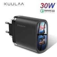 Kuulaa carga rápida 3.0 carregador usb 30 w qc3.0 qc carregamento rápido multi plug carregador do telefone móvel para iphone samsung xiaomi huawei|Carregadores de celular| |  -