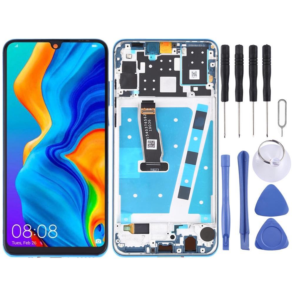 LCD Screen and Digitizer Full Assembly with Frame for Huawei P30 Lite / Nova 4e