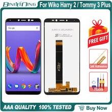 Nieuwe Originele Voor Wiko Harry 2 Tommy 3 Plus LCD & Touch screen Digitizer met frame scherm accessoires Montage vervanging
