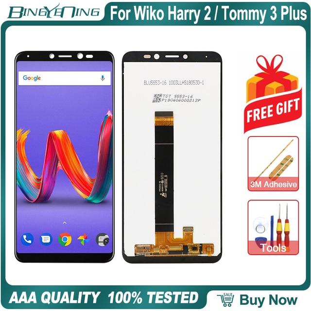 Yeni orijinal Wiko Harry 2 Tommy 3 artı LCD ve dokunmatik ekran digitizer çerçeve ile ekran aksesuarları meclisi değiştirme