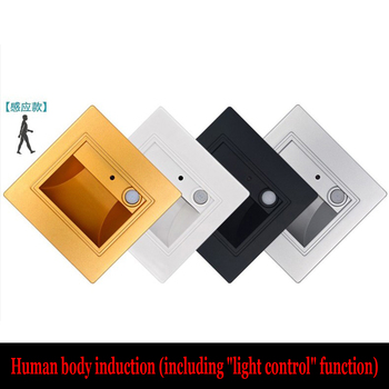 86 type embedded light control human body induction led foot lamp corridor corridor corner wall lamp image